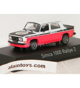 SIMCA 1000 RALLYE 2 SRT 1977 Tacoma White & Red NOREV 1/43 - 571019