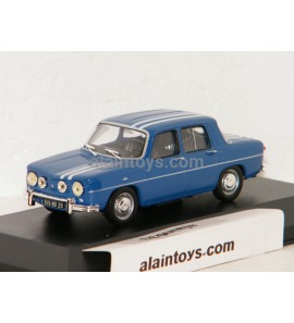RENAULT R8 GORDINI 1300 BLEUE RAYURES BLANCHES 1969 SOLIDO 1/43 - S4300100