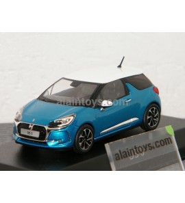 DS 3 2016 Belle Ile Blue & White NOREV 1/43 - 155261