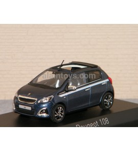 PEUGEOT 108 TOP Collection 2017 Smalt Blue NOREV 1/43 Ref 471801