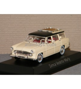 SIMCA VEDETTE MARLY 1957 Paille yellow & Black NOREV 1/43 Ref 574055