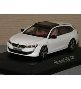 PEUGEOT 508 SW GT 2018 Pearl White  NOREV 1/43 Ref 475826