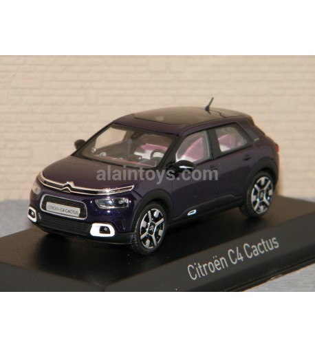 CITROËN C4 CACTUS 2018 Deep Purple & White deco NOREV 1/43 Ref 155477