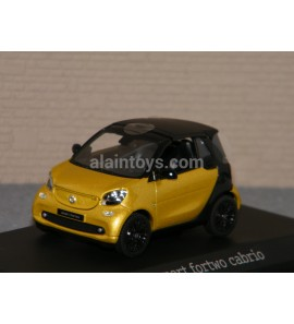 SMART FORTWO CABRIO Black ro yellow NOREV 1/43 Ref B66960288