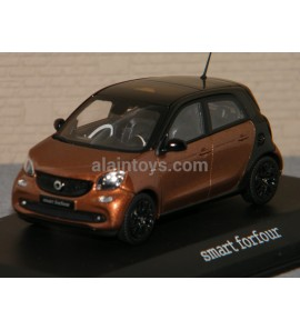 SMART FORFOUR Black/Hazel brown NOREV 1/43 Ref B66960295
