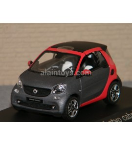 SMART FORTWO CABRIO titania grey / red NOREV 1/43 Ref B66960286