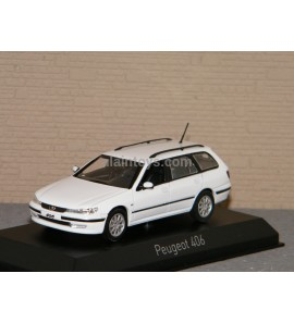PEUGEOT 406 Break 2003 Banquise White NOREV 1/43 Ref 474653
