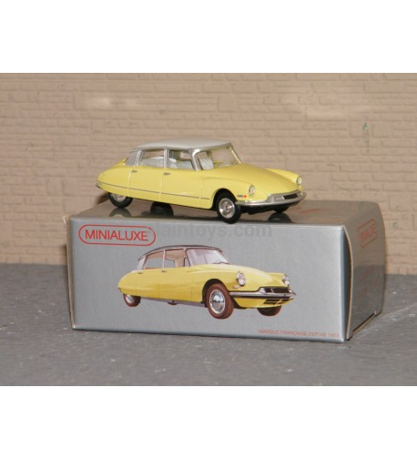 Miniabox DS 19 Jaune dinky car designed By Minialuxe France 1/66è Ref MB100_3SE