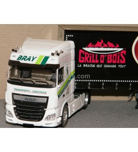 DAF XF MY 2017 SPACE CAB TAUTLINER TRANSPORTS BRAY GRILL O' BOIS ELIGOR 1/43 Ref 116659