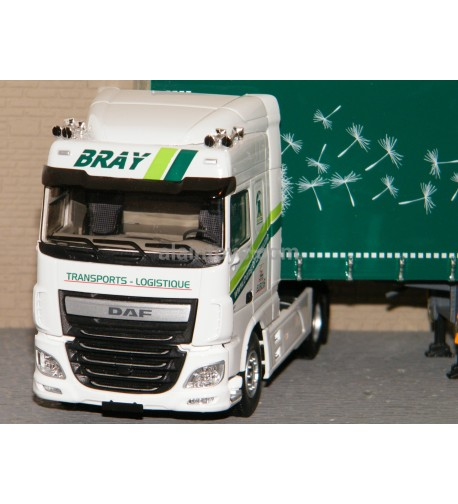 DAF XF MY 2017 SPACE CAB TAUTLINER TRANSPORTS BRAY ELIGOR 1/43 Ref 116658