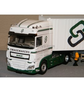 DAF XF MY 2017 SPACE CAB CONTAINER TRANSPORTS SWAGEMAKERS ELIGOR 1/43 Ref 116621
