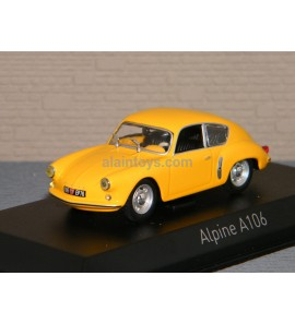 ALPINE A106 1956 Yellow NOREV 1/43 Ref 517822