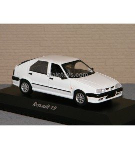 RENAULT 19 BLANCHE 1995 MAXICHAMPS 1/43 Ref 940113700