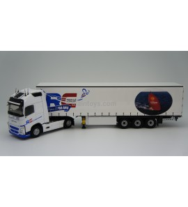 VOLVO FH 4 GLOBE XL TAUTLINER ROUILLE COULON 60 ans ELIGOR 1/43 Ref 116724