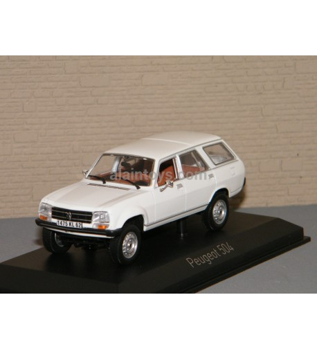 PEUGEOT 504 BREAK DANGEL Alaska White NOREV 1/43 Ref 475443