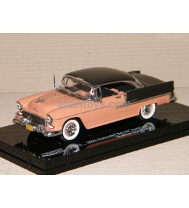 CHEVROLET BEL AIR HARD TOP 1955 GRAY/CORAL VITESSE 1/43