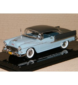 CHEVROLET BEL AIR HARD TOP 1955 GLACIER BLUE/SKYLINE BLUE VITESSE 1/43
