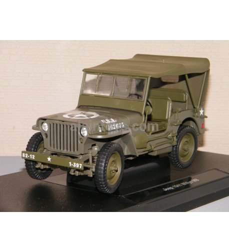 JEEP WILLYS MB 1941 US Army fermée WELLY 1:18 Ref 18055H-W