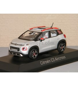 CITROËN C2 Aircross 2017 Cosmic Silver & Orange déco NOREV 1/43 Ref 155333