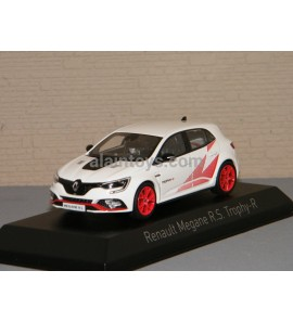 RENAULT MEGANE RS Trophy R 2019 White & Red rims NOREV 1/43 Ref 517739