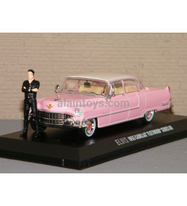 CADILLAC FLEETWOOD 1955 SERIE 60 WHITH & FIGURE ELVIS GREENLIGHT 1/43 Réf 86436