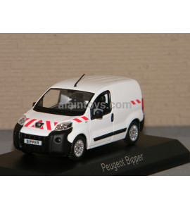 PEUGEOT BIPPER 2009 WHITE WITH red stripping NOREV 1/43 Ref 479868
